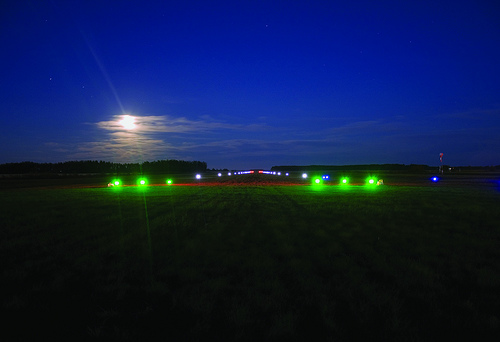 Landing strip lights